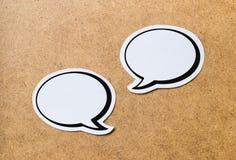 2 burbujas en blanco del discurso imagenes de archivo