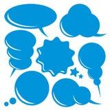 Burbujas en blanco del discurso fijadas ilustración del vector