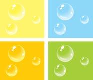 Burbujas en fondos coloreados