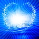 Burbujas en forma de corazón del agua ilustración del vector