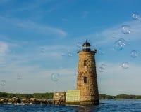 Burbujas en la luz de Whaleback imagen de archivo libre de regalías