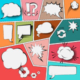 Burbujas fijadas, ejemplo del discurso del vector Imagenes de archivo