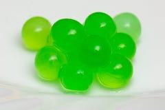 Burbujas gelatinosas verdes Fotos de archivo libres de regalías