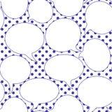 Burbujas inconsútiles del discurso del arte pop ilustración del vector