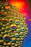 Burbujas multicoloras imágenes de archivo libres de regalías