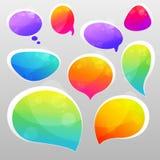 Burbujas para el discurso Imagen de archivo libre de regalías