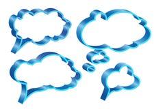 Burbujas para el discurso Fotografía de archivo
