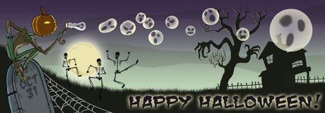 Burbujas que soplan del feliz Halloween con el TIPO stock de ilustración