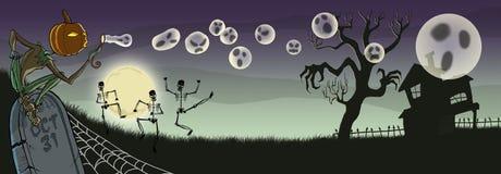 Burbujas que soplan del feliz Halloween sin TIPO ilustración del vector
