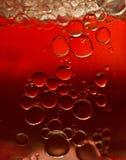 Burbujas rojas Fotografía de archivo libre de regalías