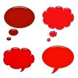 Burbujas rojas del discurso Imágenes de archivo libres de regalías