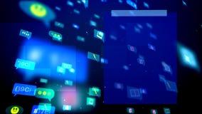 Burbujas sociales abstractas divertidas que vuelan Fotografía de archivo libre de regalías