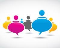 Burbujas sociales del diálogo de los media Fotografía de archivo libre de regalías