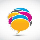 Burbujas sociales del diálogo del establecimiento de una red Foto de archivo libre de regalías