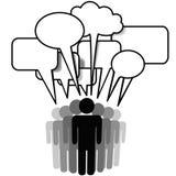 Burbujas sociales del discurso del grupo de la gente de los media de la red stock de ilustración