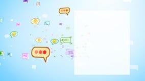 Burbujas sociales infantiles que mueven encendido la pantalla Imagenes de archivo