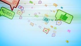 Burbujas sociales que giran en ciberespacio Imagen de archivo libre de regalías