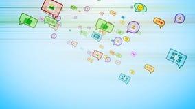 Burbujas sociales que vuelan en ciberespacio Fotografía de archivo libre de regalías
