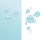 Burbujas transparentes del agua stock de ilustración