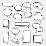 Burbujas vacías cómicas retras del discurso fijadas para el mensaje ilustración del vector