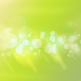 Burbujas verdes Foto de archivo libre de regalías