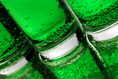 Burbujas verdes Imágenes de archivo libres de regalías