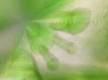 Burbujas verdes Imagen de archivo libre de regalías