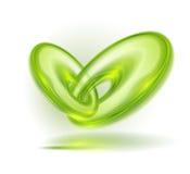 Burbujas verdes abstractas stock de ilustración