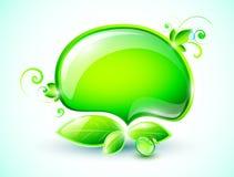 Burbujas verdes del discurso Imagen de archivo libre de regalías