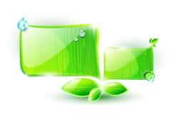 Burbujas verdes del discurso Imagen de archivo