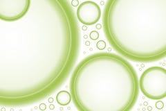 Burbujas verdes gigantes ilustración del vector