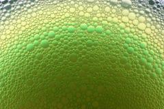 Burbujas verdes y amarillas Fotografía de archivo