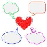 Burbujas y corazón en blanco ilustración del vector