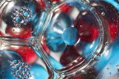 Burbujas y gotas Fotos de archivo
