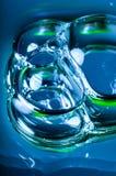 Burbujas y manchas de óxido azules, púrpura, amarillo, rojo Fotografía de archivo libre de regalías