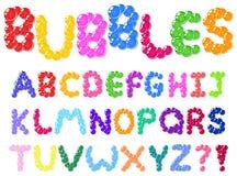 Burbujea el alfabeto Fotos de archivo libres de regalías