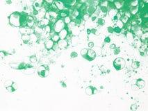Burbujea la espuma verde de la acuarela libre illustration