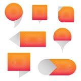 Burbujean los iconos ilustración del vector