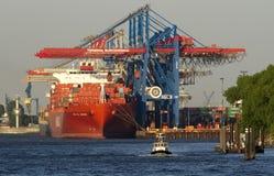Burchardkai terminal, puerto de Hamburgo Imágenes de archivo libres de regalías