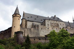 Burcht of Vianden. stock photos