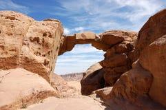 Burdah Bogen im Wadi-Rum, Jordanien Stockfotos