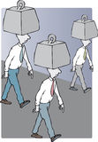 burden ilustração royalty free