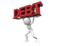 Burden debt. 3d hq image: burden debt vector illustration