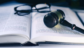 Burden of proof legal law concept image banner style with copy space to left Stock Images
