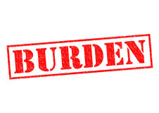 BURDEN. Red Rubber Stamp over a white background Stock Image