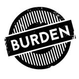 Burden rubber stamp. Grunge design with dust scratches. Effects can be easily removed for a clean, crisp look. Color is easily changed Stock Image