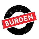Burden rubber stamp Royalty Free Stock Photo