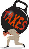 Burden of taxes Stock Images