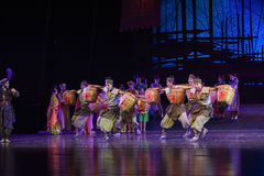 """The burden of the tea-Dance drama """"The Dream of Maritime Silk Road"""". Dance drama """"The Dream of Maritime Silk Road"""" centers on the plot of two generations Royalty Free Stock Photo"""