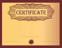 Burdeos del certificado Imágenes de archivo libres de regalías